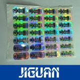 Effet Laser Anti-Counterfeiting autocollant hologramme fait sur mesure