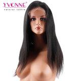 Yvonne 대중적인 자연적인 똑바로 100% 인간적인 브라질 사람의 모발 레이스 정면 가발