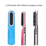 Escova cerâmica elétrica portátil profissional do Straightener do cabelo