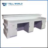 Причудливый стол приема Corian конструкции