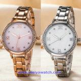 Wristwatch нержавеющей стали повелительниц поставкы фабрики движения кварца японии (WY-17002)