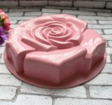 Big en silicone de qualité alimentaire a augmenté de bicarbonate de moule à gâteau de forme