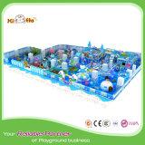 Cour de jeu d'intérieur matérielle de PVC de bâti en acier de thème d'océan