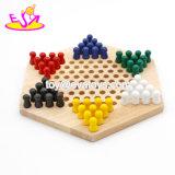 Jogo de madeira dos verificadores chineses do jogo de mesa educacional para os miúdos W11A034