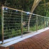 Pasamano inoxidable del balcón de los carriles de la cerca moderna del metal