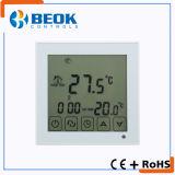 Período de la pantalla táctil que programa el termóstato de la caldera de la calefacción por el suelo