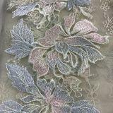 絹ヤーンの水晶が付いているレースの花の刺繍は追加することができる