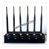 Cellular Phone 6 Bands Signal Jammer GSM/3G - GPS - WiFi/Bluetooth - Car Remote Control 315MHz 433MHz 868MHz; Desktop 6 Antenna Cellphone Jammer/Blocker
