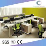 La moderna forma de L 2 personas de color verde Estación de trabajo con el Archivador (CAS-W1876)