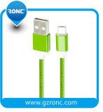 Trenzado Nylon pasar 1A Carga de datos de 1m Cable Eléctrico cable micro USB
