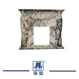 Естественного белого полированного гранита мраморный камин из резного камня Mantels для сада