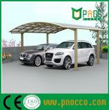 De stevige Schuilplaatsen van de Auto van het Zeil van het Polycarbonaat van de Structuur van de Legering Aluminuim