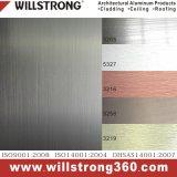 Silver couleur panneau composite en aluminium brossé pour revêtement mural