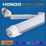 Alti indicatori luminosi fluorescenti T8 dell'uscita 120lm/W 4FT 18W LED di lumen con 3-5 anni di garanzia