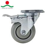 En PVC de pivot de roulette pour charge moyenne
