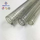 Boyau transparent flexible à haute pression d'aspiration de fil d'acier de PVC