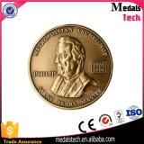 O bronze feito sob encomenda da boa qualidade chapeou torna ôca para fora a moeda do desafio do metal