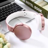 Super Thin Wired Over Ear Headphones Foldable Headset with Mic