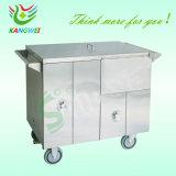 Collection de linge sale en acier inoxydable panier Chariot pour l'hôpital SLV-C4027