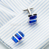 VAGULA Silver Plated Public garden Saphire Zircon Wedding Men' S Shirt Cuff Link 696