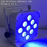 9X15W 무선 건전지 편평한 동위는 LED 빛 할 수 있다