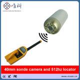 equipamento impermeável da deteção da tubulação de esgoto do nível do auto de 40mm com cabo de 60m