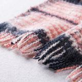 Caxemira das mulheres como o lenço feito malha verific clássico do xaile da impressão do inverno (SP304)