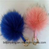 方法女性袋のための実質のアライグマの毛皮の球