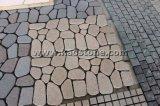 Natürlicher Granit-Kopfstein-/fächerförmiger Würfel-Steinpflasterung für das Fahren von Methode