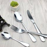 銀および金のステンレス鋼の食事用器具類セット