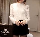 Signora casuale Clothing della camicia della camicia bianca lunga del manicotto delle donne