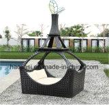 Напольное /Rattan/стул салона ротанга мебели гостиницы сада/Patio/с шатром (HS 9003)