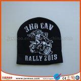 Bonnet acrylique noire avec logos Jacquard