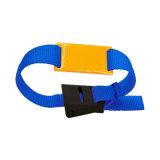 Bracelet tressé confortable d'IDENTIFICATION RF avec appuyer la boucle