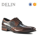 Estilo de moda de cuero auténtico de alta calidad de los hombres zapatos