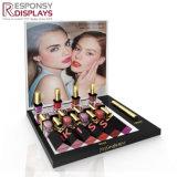 Compteur de l'acrylique brut à lèvre rouge à lèvres cosmétiques Présentoir