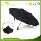 Paraguas cercano abierto automático del doblez de la promoción 3 de la lluvia de Sun