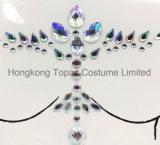 Il bianco di cristallo del partito sicuro popolare della pelle del Topaz di Hong Kong fissa gli autoadesivi di Tatto della cassa dei gioielli del corpo (E26)