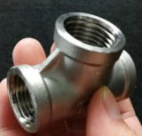 Montaje del tubo de acero inoxidable SS304 BSPT T Tornillo de rosca NPT 1/2 pulg.
