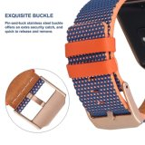 Cinturino di vigilanza variopinto del cuoio genuino del reticolo con il blocco per grafici per la fiammata di Fitbit