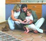 Электрический нагрев коврик светлой плиткой 160Вт VDE утвержденных