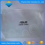 Botón personalizado colgador de plástico transparente de PVC de cierre de la bolsa de refuerzo
