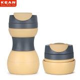 Umweltfreundliche wasserundurchlässige zusammenklappbare haltbare Silikon-Arbeitsweg-Isolierkaffeetasse 500ml