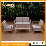 Всепогодная самомоднейшая алюминиевая мебель сада таблицы и софы салона отдыха стула установленная напольная