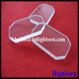 Lastra di vetro del quarzo del silicone fuso del quadrato del taglio del bobinatoio a cono