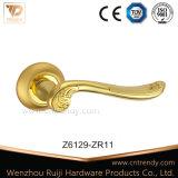Het tubulaire Handvat van de Deur van de Band Gouden met Ronde Rozet (Z6132-ZR11)