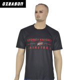 OEM Custom de gros de l'impression par sublimation de polyester noir T-Shirt pour hommes
