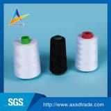 hilo de coser hecho girar el 100% del bordado de la tela del poliester 60s/2 para los pantalones vaqueros