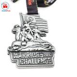 Medaglia d'argento antica di sport di sfida dei guerrieri di alta qualità