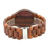 Conception personnalisée Quarrtz bon marché artisanal en bois de santal rouge montres pour hommes